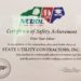 N.C Department of Labor Presents State Utility Contractors with a Silver Award